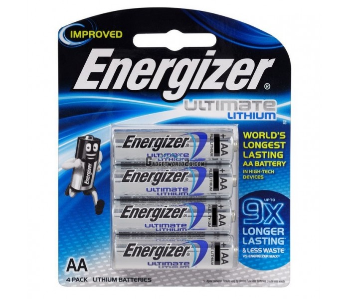 energizer ultimate lithium aa battery 4pcs. Black Bedroom Furniture Sets. Home Design Ideas