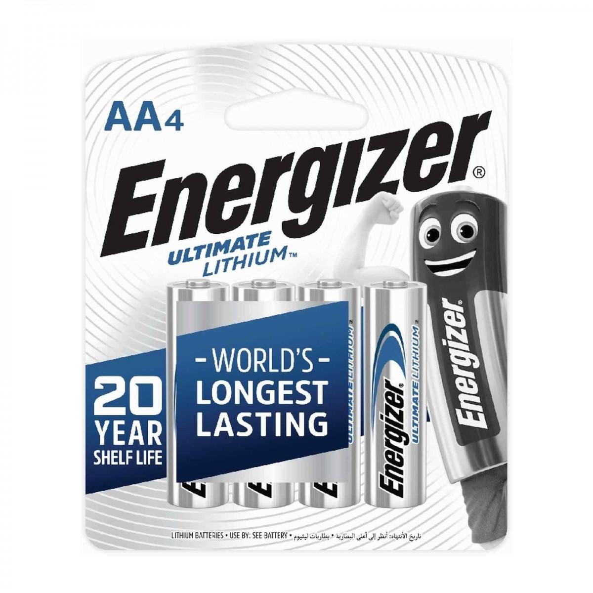 Energizer Ultimate Lithium AA Battery 4pcs