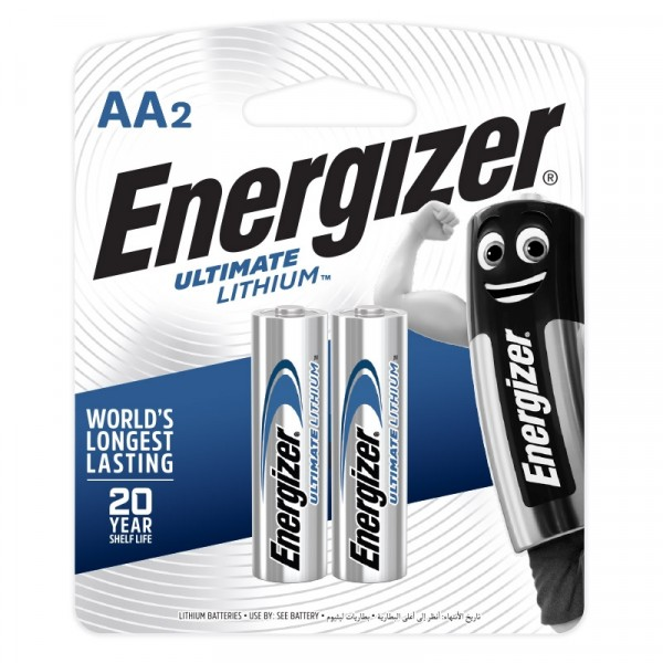 Energizer Ultimate Lithium AA Battery 2pcs