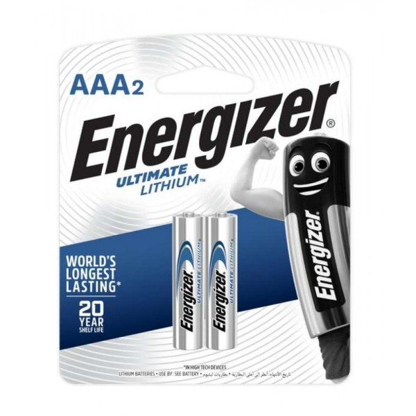 Energizer Ultimate Lithium AAA Battery 2pcs