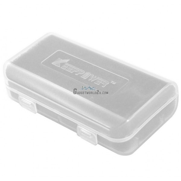 KeepPower Battery Storage Case for 18650/18350/16340/CR123 Battery