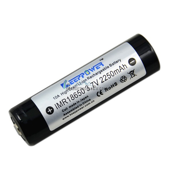 KeepPower IMR 18650 3.7V 2250mAh HighDrain Li-ion Rechargeable Battery