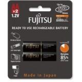 Fujitsu AA x2 2550mAh NiMH 500 Cycle Rechargeable Battery