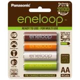 Panasonic Eneloop AA x4 2000mAh Colour NiMH Rechargeable Battery