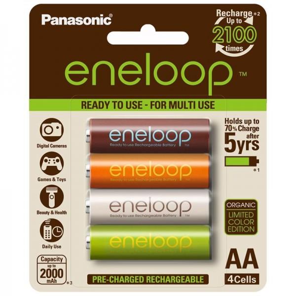 Panasonic Eneloop AA x4 2000mAh Colour NiMH Rechargeable Battery China