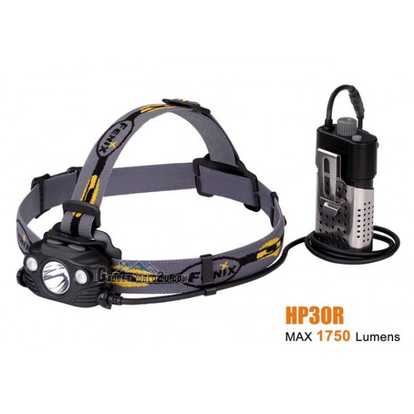 Fenix HP30R Rechargeable Spot & Floodlight Headlamp - Black