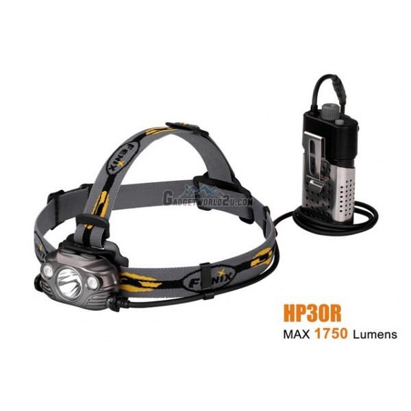 Fenix HP30R Rechargeable Spot & Floodlight Headlamp-Iron Grey
