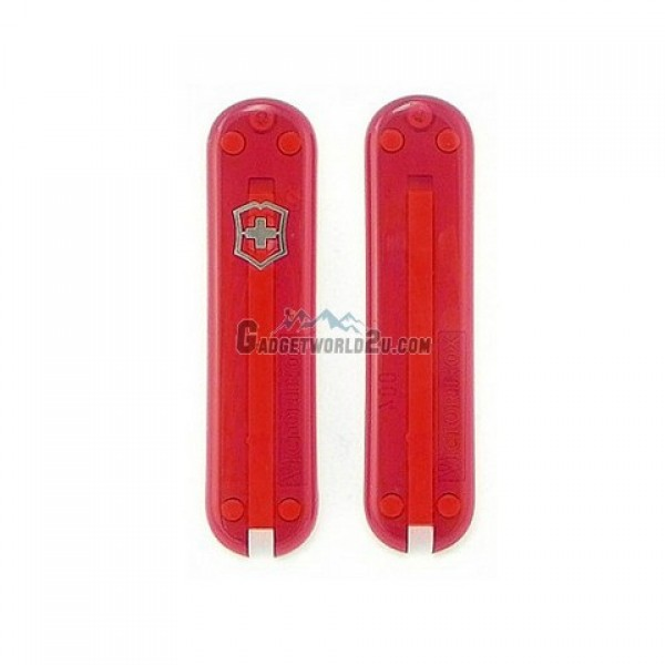 Victorinox 58mm Scale Handles Translucent Red